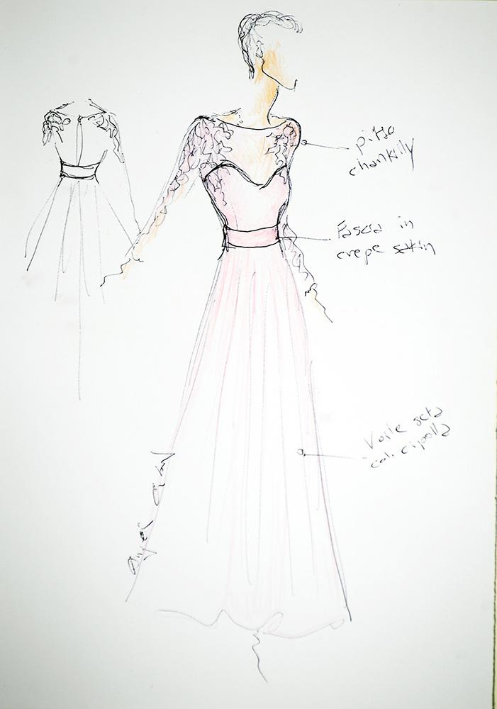 Cameron - Schizzo Bozzetto Abiti da cerimonia - Zea Couture Abiti da Sposa