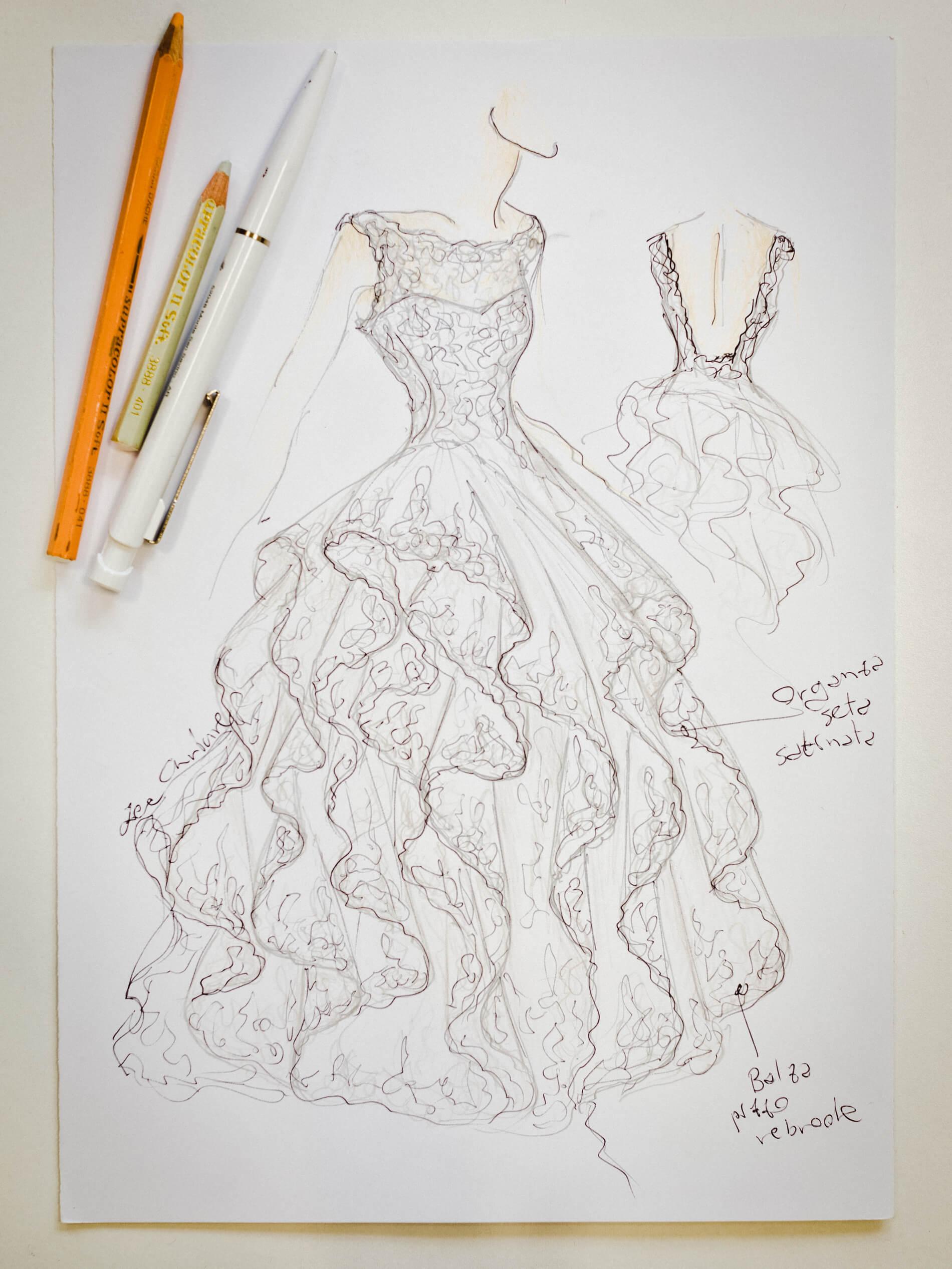 Elsa - Zea Couture - Schizzo Modello Abiti da Sposa