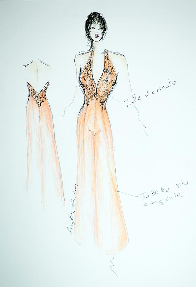 Giulia - Schizzo Bozzetto - Abiti da cerimonia - Zea Couture Abiti da Sposa