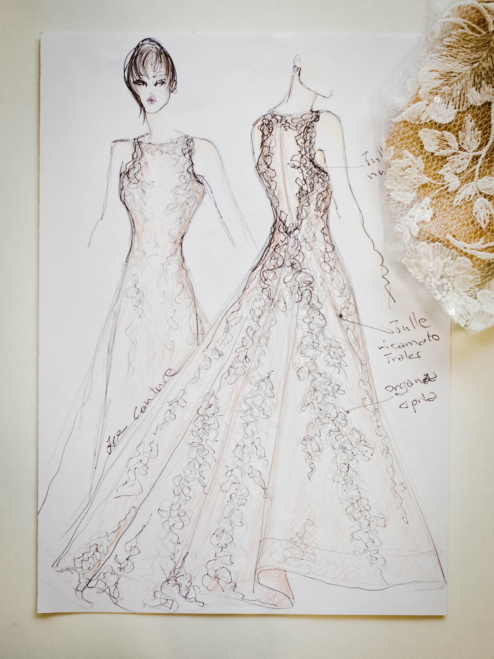 Karen - Zea Couture - Schizzo Modello Abiti da Sposa