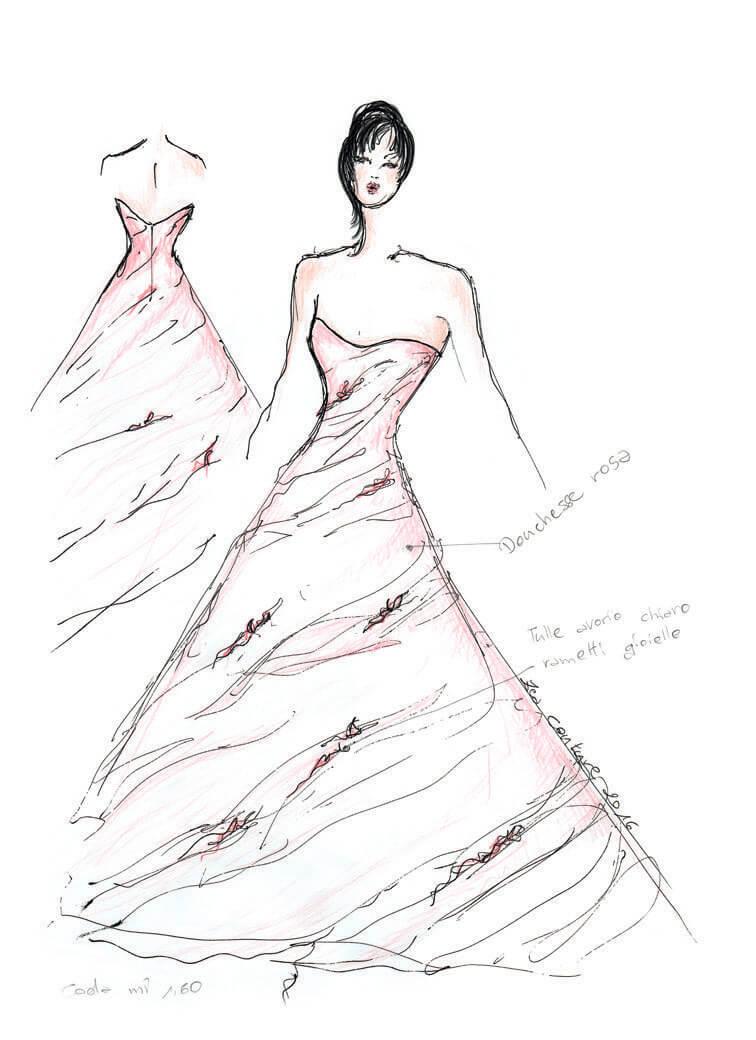 Mod.06 – Zea Couture – Schizzo Bozzetto Abiti da Sposa