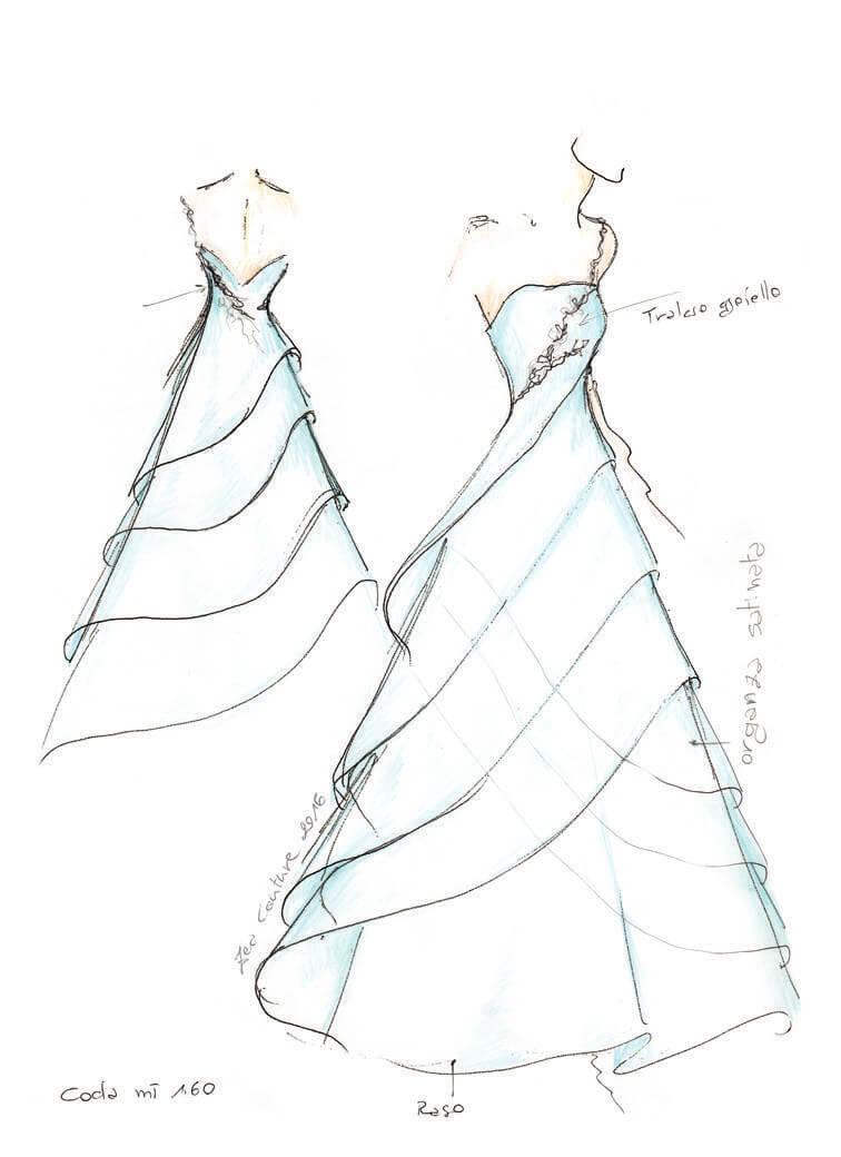 Mod.15 – Zea Couture – Schizzo Bozzetto Abiti da Sposa