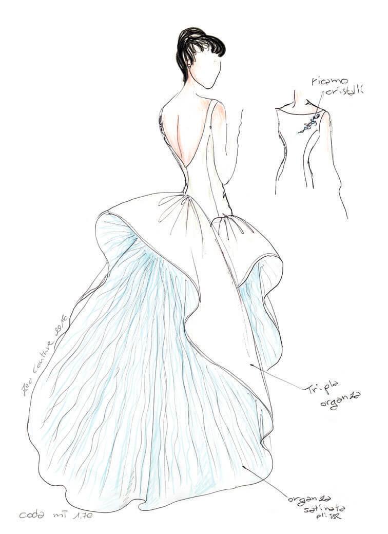 Mod.17 – Zea Couture – Schizzo Bozzetto Abiti da Sposa