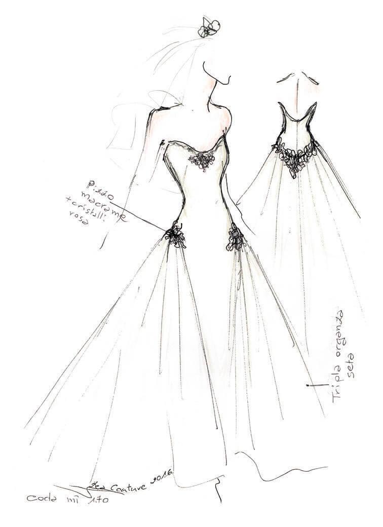 Mod.20 – Zea Couture – Schizzo Bozzetto Abiti da Sposa