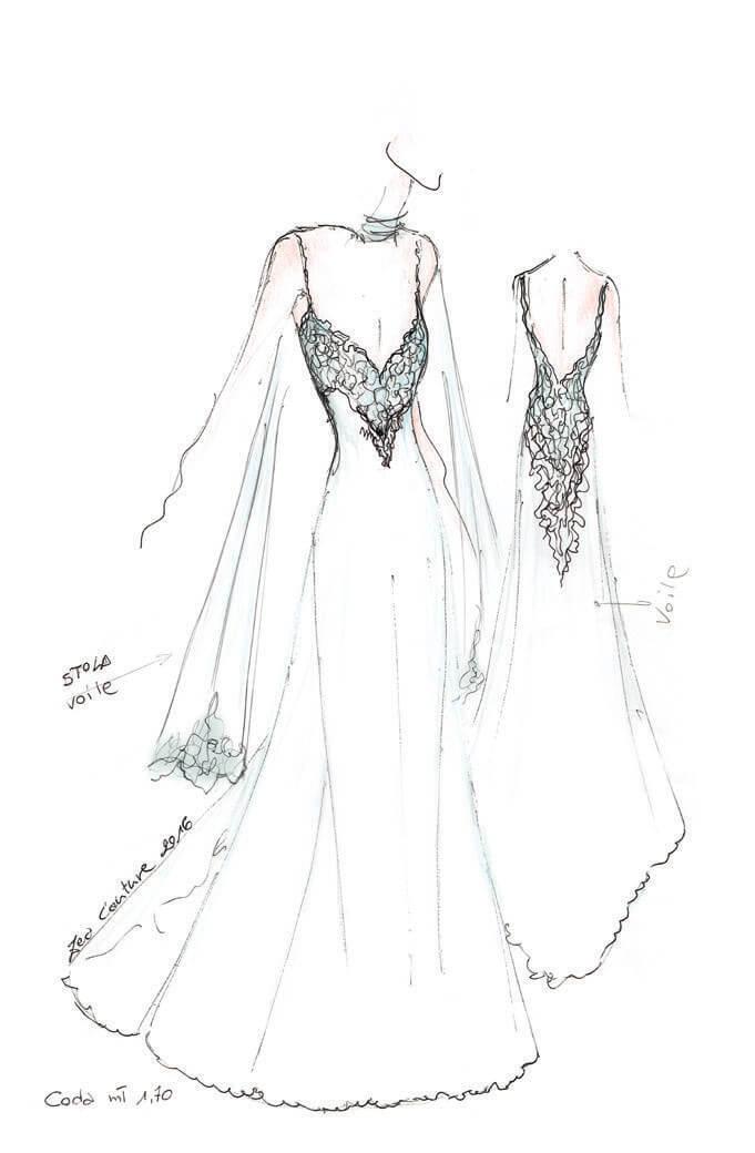 Mod.30 – Zea Couture – Schizzo Bozzetto Abiti da Sposa
