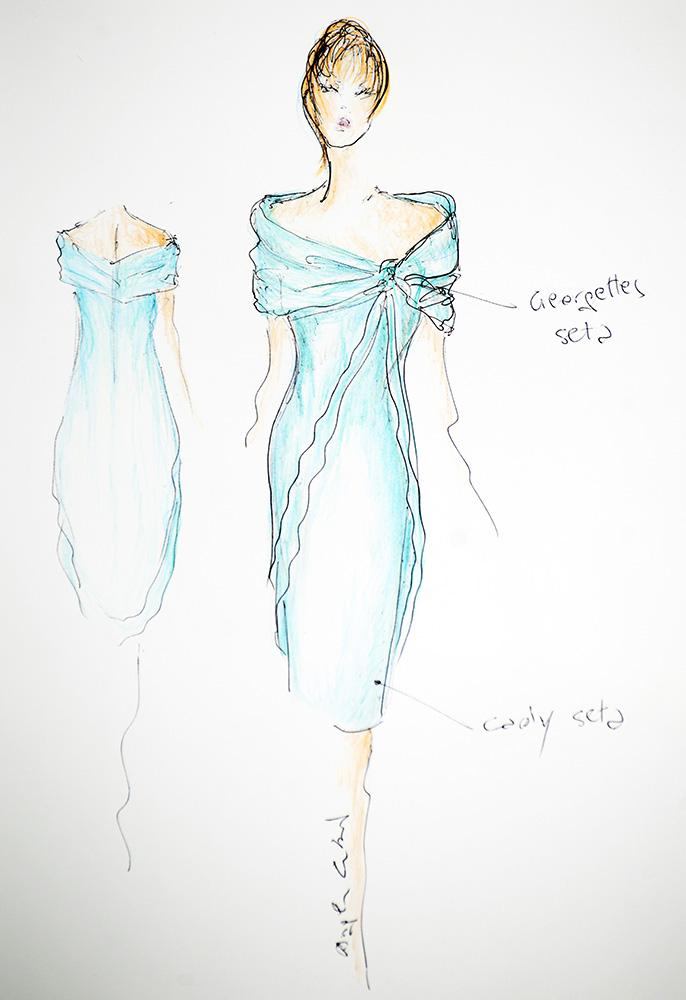 Sandra - Schizzo Bozzetto Abiti da cerimonia - Zea Couture Abiti da Sposa