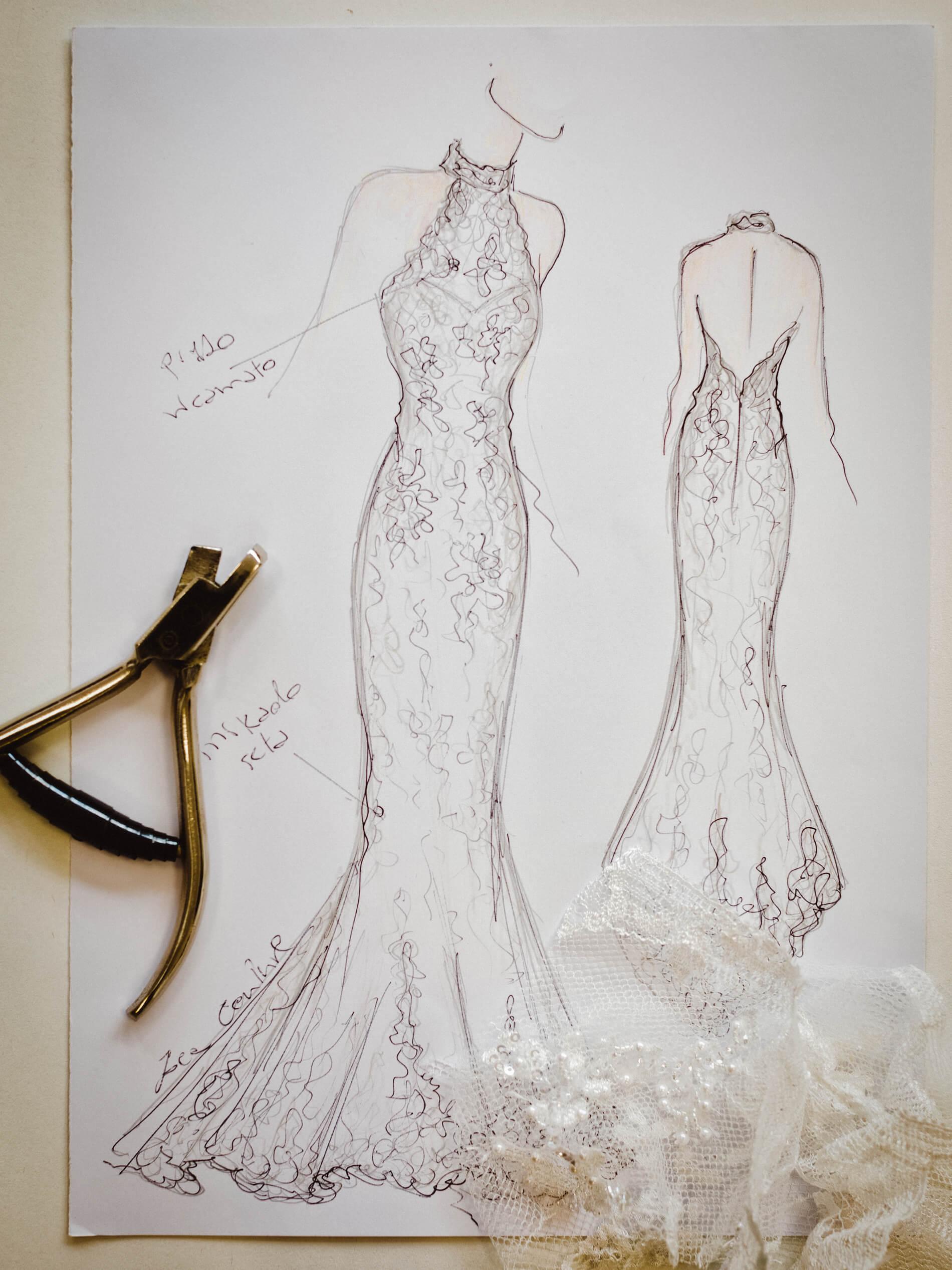 Selma - Zea Couture - Schizzo Modello Abiti da Sposa