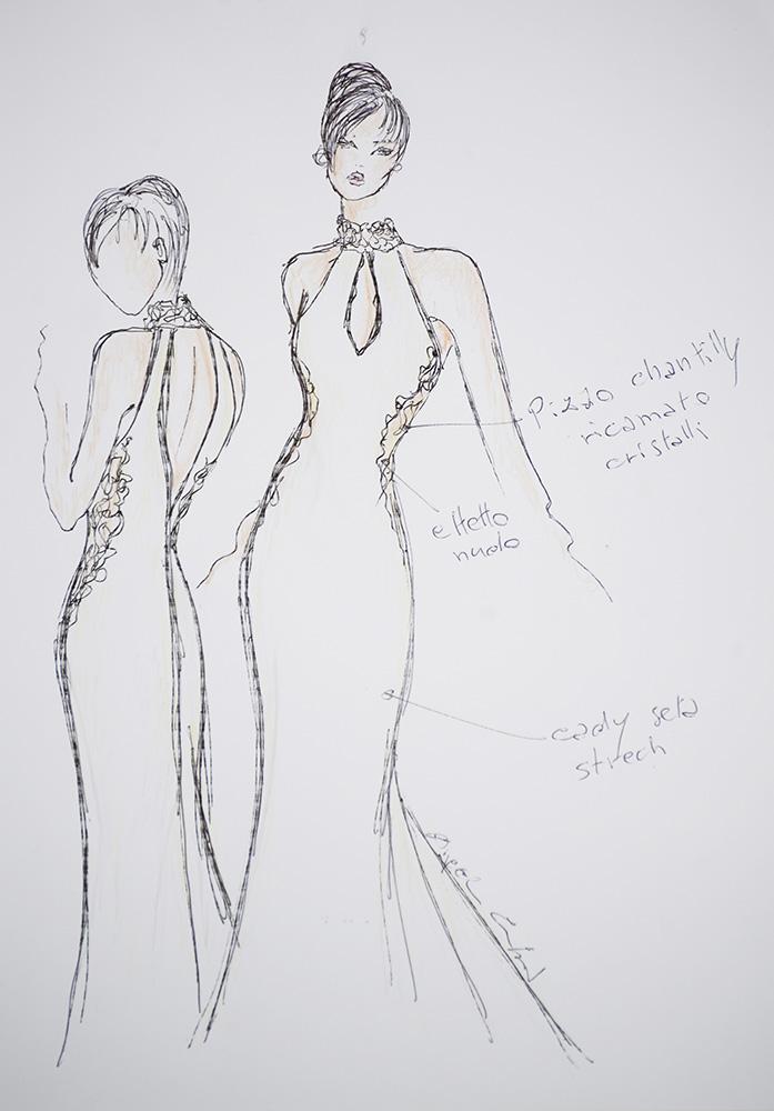 Uma - Zea Couture - Schizzo Modello Abiti da Sposa