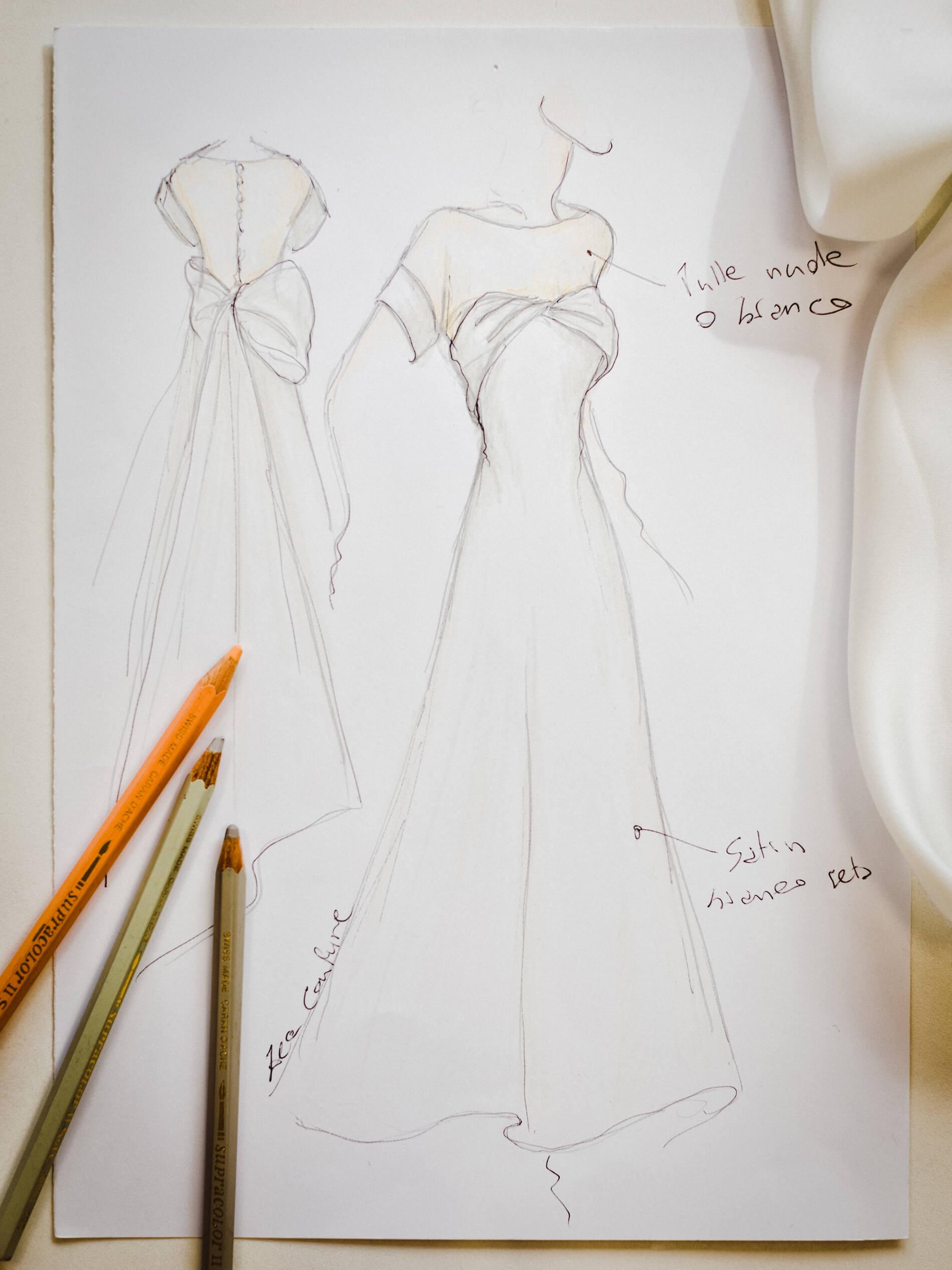 Virginia - Zea Couture - Abiti da Sposa Schizzo Bozzetto